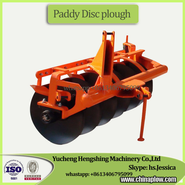Farm equipment ploughing machine paddy disc plough for massey ferguson tractors