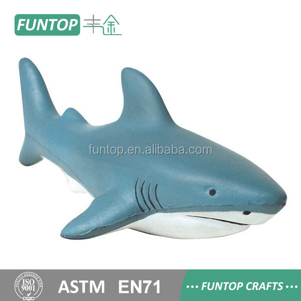 Polyurethane foam pu shark anti stress toy