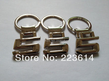 Excelent Metal Logo Key Ring For BMW 5 Series Letter Keychain For BMW Super Quality Free Shipping