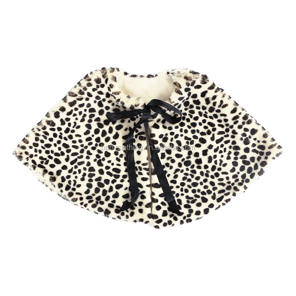 Howell hot sale winter warm boutique children clothes leopard colors cape baby faux fur shawl