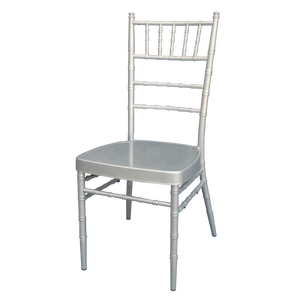 Fancy silver aluminum wedding tiffany chair with removable cushion
