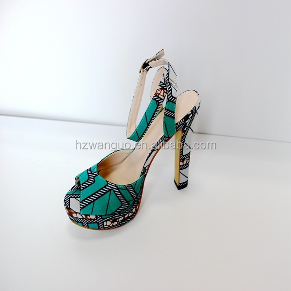 new heel fashion shoes shoes high ladies african wax print TT7awrq