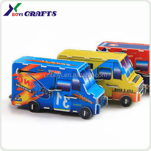 New creative design motor/airplane/car traffic children's educational customized plastic puzzle