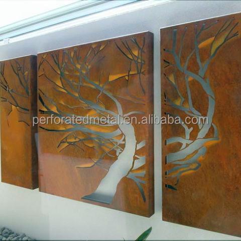 Corte laser acero corten fachadas otros decoraci n del for Acero corten perforado oxidado