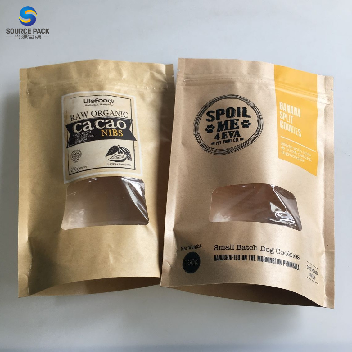 Cheap brown tea leaves kraft paper packaging coffee bags for sale