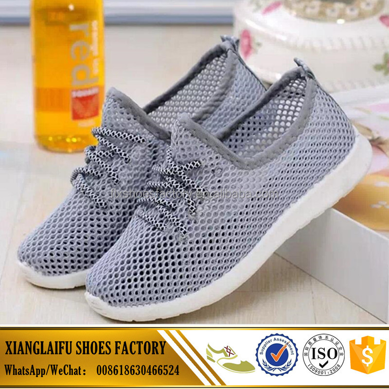 directly factory low price injection kids mesh sport shoes