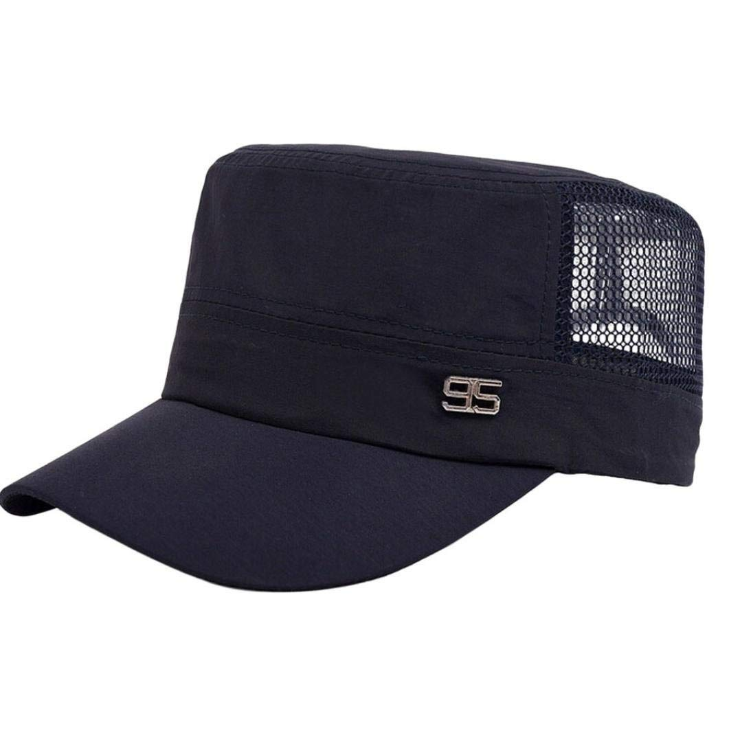 Get Quotations · Men s Cadet Army Cap Hat Iuhan Basic Everyday Military  Style Hat Outdoor Plain Vintage Army Military a9c6258620ba