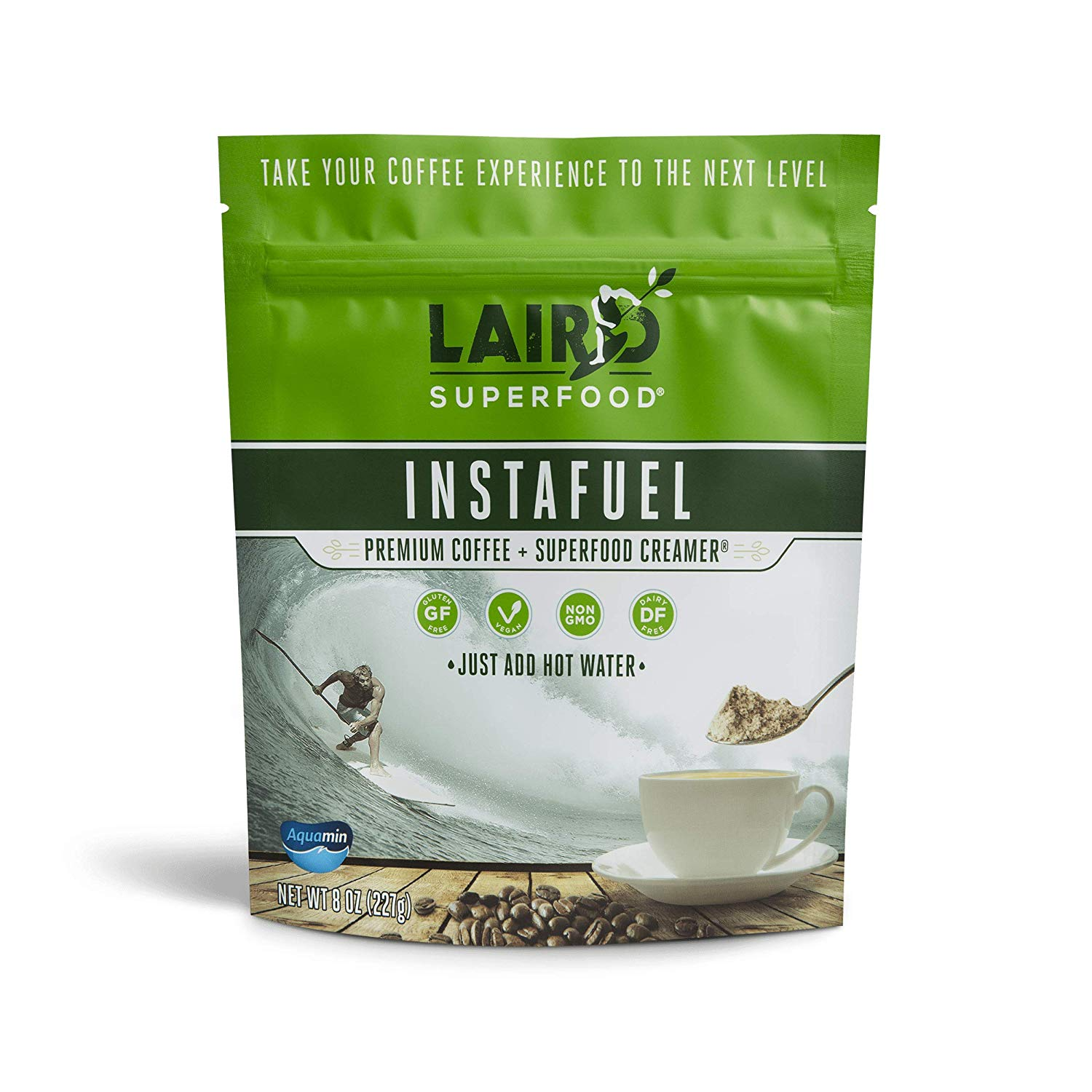 Laird Superfood Instafuel Premium Instant Coffee | Premium Arabica Coffee with Superfood Original Creamer Added | Non-Dairy | Organic | Gluten Free | Vegan - 1 lb Bag