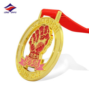 Longzhiyu 12years High Quality Custom Gold Silver Bronze Plated Round Karate Gold Medal
