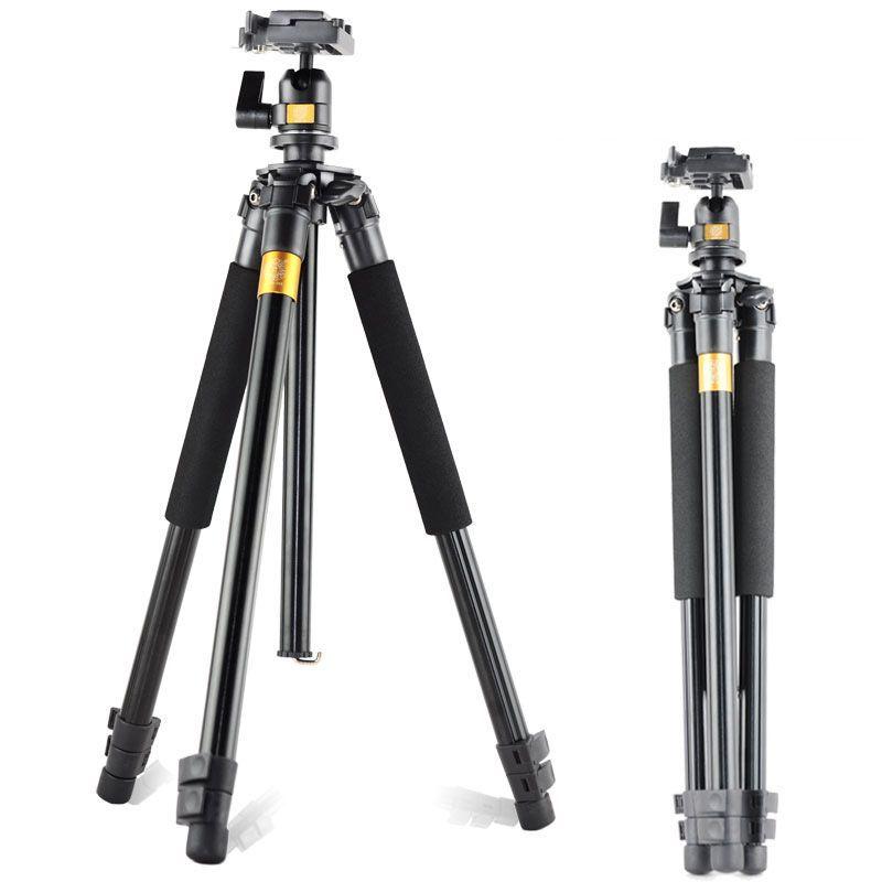 QZSD Q308 Алюминиевый Портативный Штатив с Шаровой Головкой Портативный Съемная Сменные Путешествия для Объектив Камеры Canon Nkion ЗЕРКАЛЬНЫЕ ФОТОКАМЕРЫ Видеокамеры