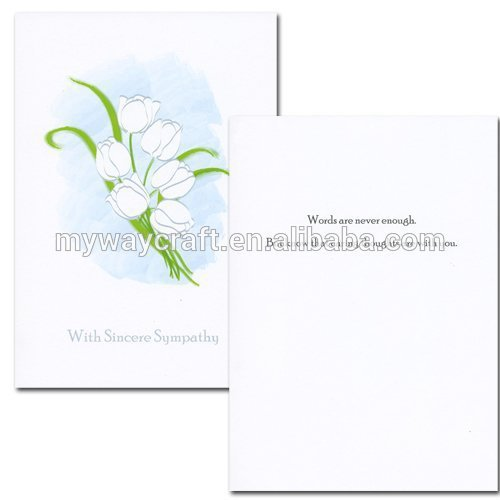 Art Craft Custom Sympathy Card for Wholesales