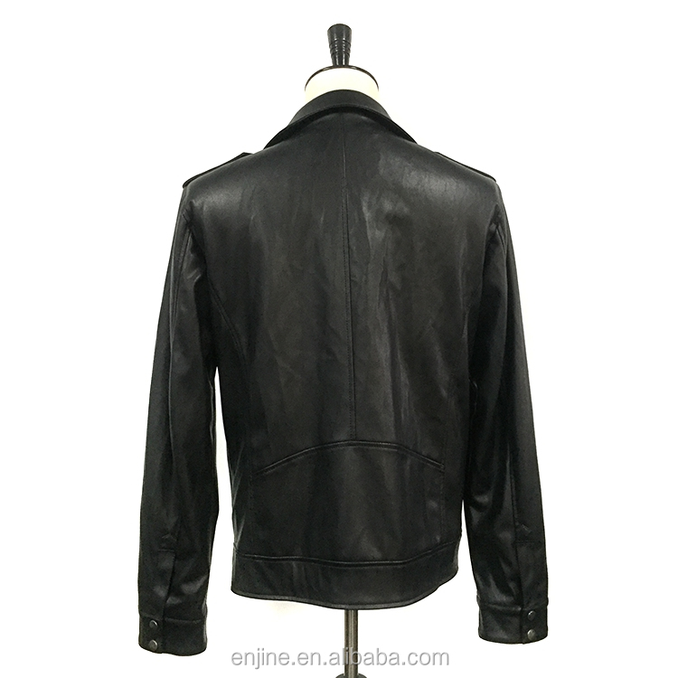 factory supply zip pocket motorcycle jacket for men