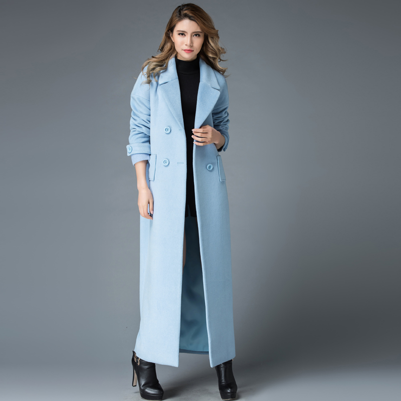 b53e81fb12b4b Detail Feedback Questions about 2017 Winter Wool Coat Women Long ...