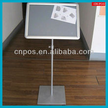 aluminum picture frame stand for shopping mall standing