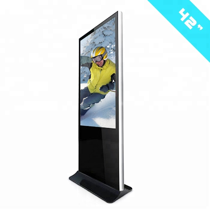 Floor stand 42 inch lcd interactieve panel digital signage display