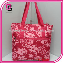 red water proof jelly tote bag