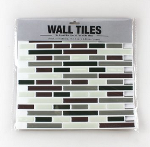 Vinyl Peel and Stick Decorative Backsplash Kitchen Wall Tile