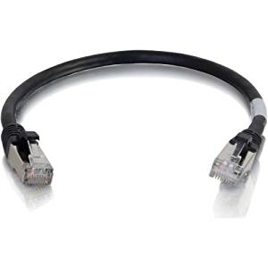 """C2g Cat6 Snagless Shielded (Stp) Network Patch Cable - Patch Cable - Rj-45 (M) - Rj-45 (M) - 6 In - Screened Shielded Twisted Pair (Sstp) - Cat 6 - Molded, Stranded, Snagless - Black """"Product Type: Supplies & Accessories/Network Cables"""""""