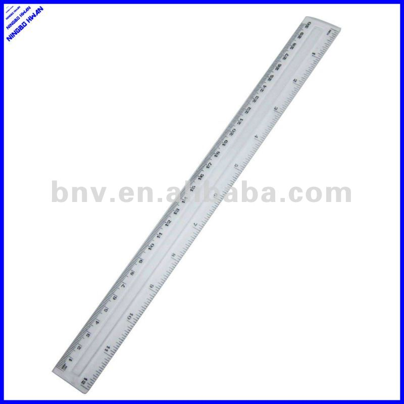 Different kinds of cheap office transparent 30cm plastic ruler