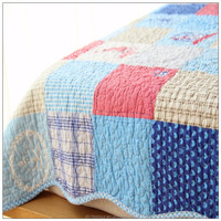 twin size patchwork printed quilt cotton