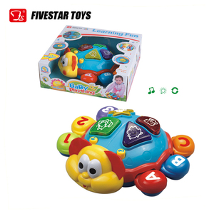 Educational cartoon multifunction battery operate plastic turtle toy