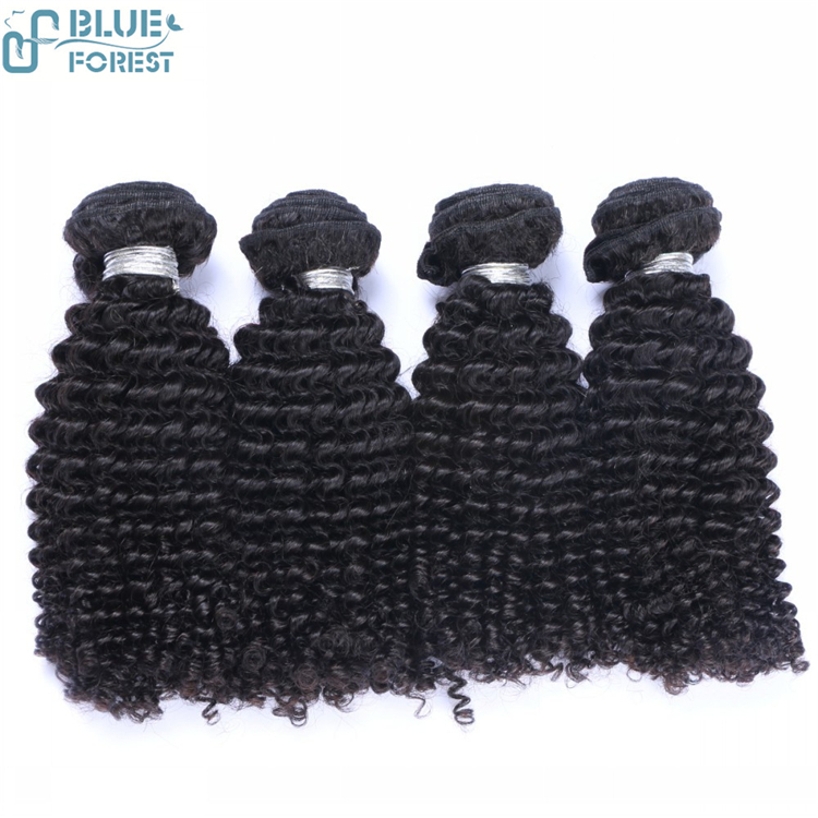 Brazilian kinky curl remy human hair weaves