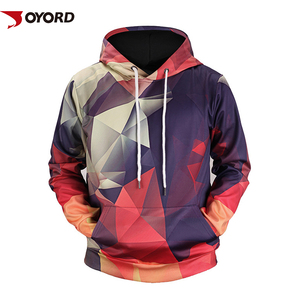Custom Sublimation 3D Print Streetwear Polyester Man Pullover Long Sleeve Colorful Hoody Sweatshirts