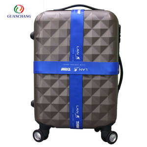 Advertising new premium cotton print polyester luggage belt w different color