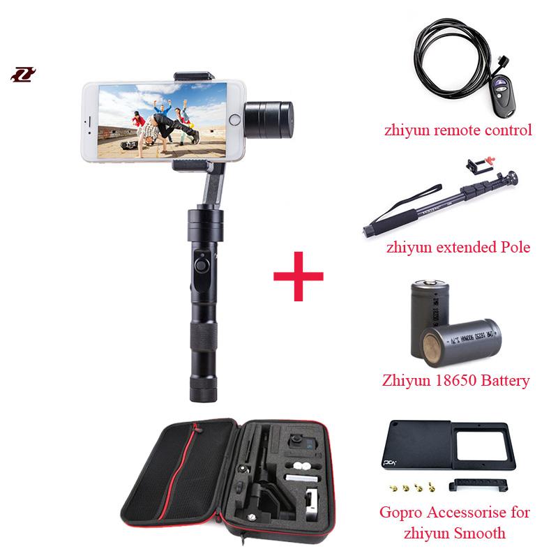 DHL EMS Бесплатная Доставка Zhiyun Z1 Гладкой C плюс 3 Оси бесщеточный телефон gimbal смартфон стабилизатор ручной для iPhone 6 s plus