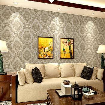 Dimensional European Luxury Pvc Wallpaper Living Room Tv Background ...