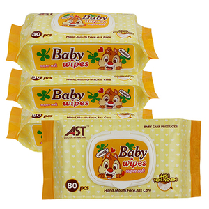 Factory wholesale OEM private logo baby and mother care soft non-woven wet tissue