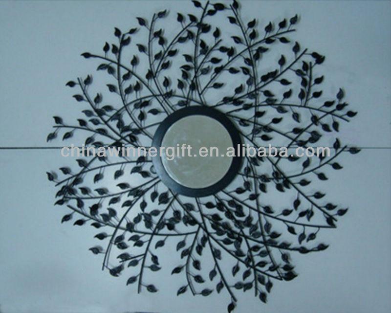 decorativos espejos redondos hecho a mano hoja de metal decoracin de la pared para el cuarto