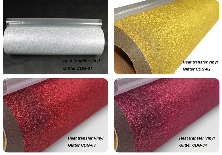 Custom heat transfer glitter vinyl transfer wholesale