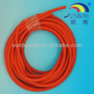 Excellent Self-Extinguishing Tube Unit Silicone Rubber Tube Sleeve(Inside Rubber & Outside Fiber)