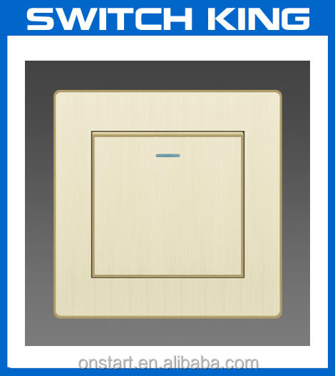 Brushed Aluminum one gang one way wall switch