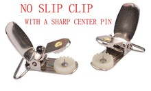 NO SLIP CLIP SUSPENDERS WITH A SHARP CENTER PIN
