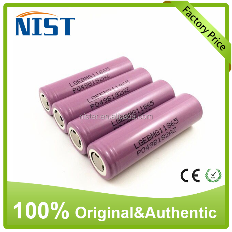 Brand lg mg1 lithium battery 18650 2900mah lithium battery 10amp for lg mg1