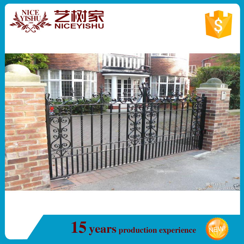 beautiful out door gate design,iron square tube gate,double door iron gates