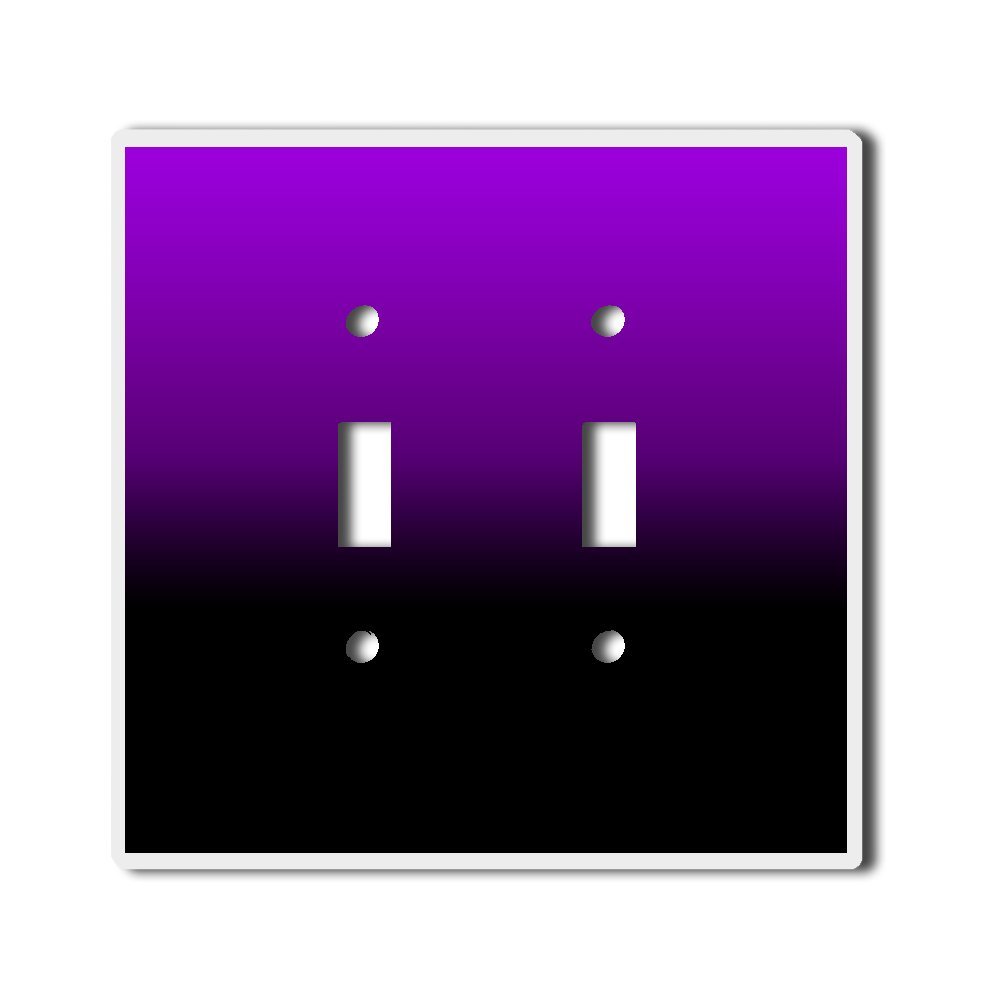 Light Switch Double Toggle Wall Plate Cover By InfoposUSA Purple Black Ombre