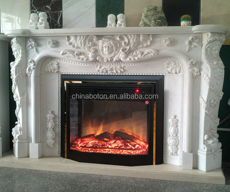 Electric Fireplace electric fireplace mantel : European Royal Electric Fireplace With Floral Design,Decorative ...