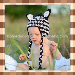 Für Den Vertrieb Schöne Handgemachte Baby Häkeln Hut Mit Tiere