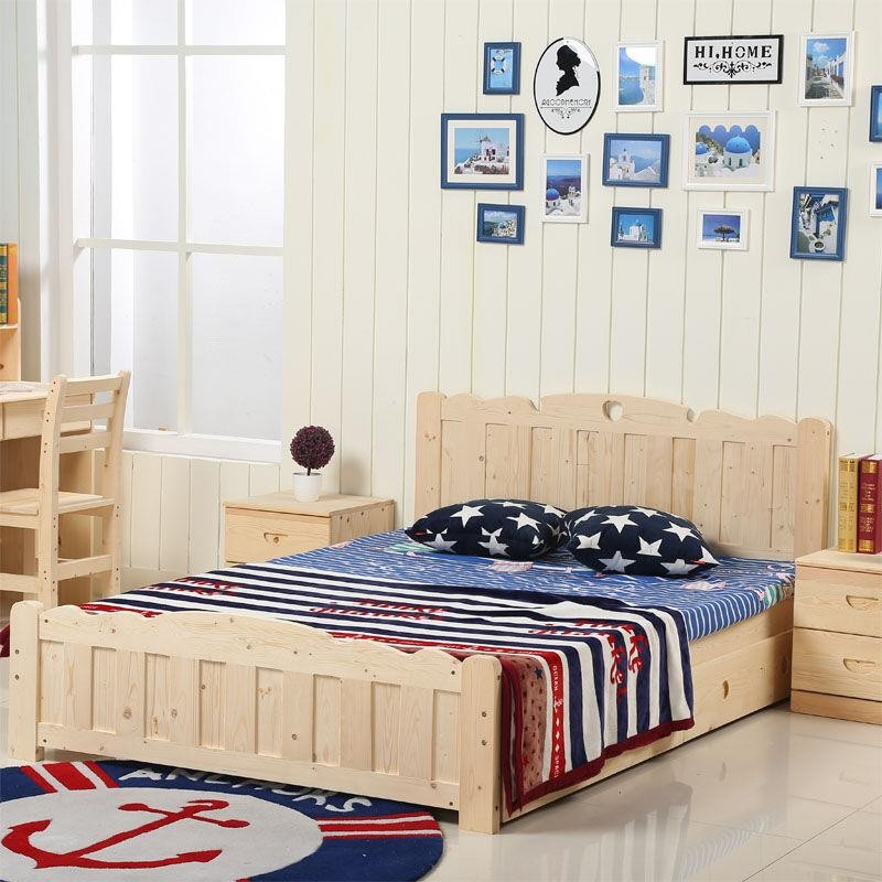 Dark color solid wood children bedroom furniture set kids single bed buy kids bed kids single Unfinished childrens bedroom furniture
