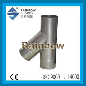 ce single wall stainless steel 135 degree tee fitting pipe fireplace piece a grey bwol with pebbles fireplace piece crossword clue
