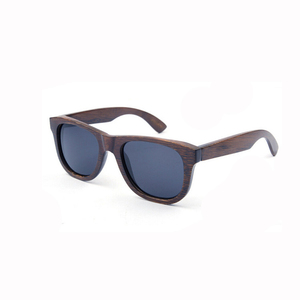 Custom logo fashionable polarized bamboo wooden sunglasses for men and women