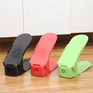 Shoes Holder Plastic 3 Gears Adjustable Storage Shoe Rack for Home Use