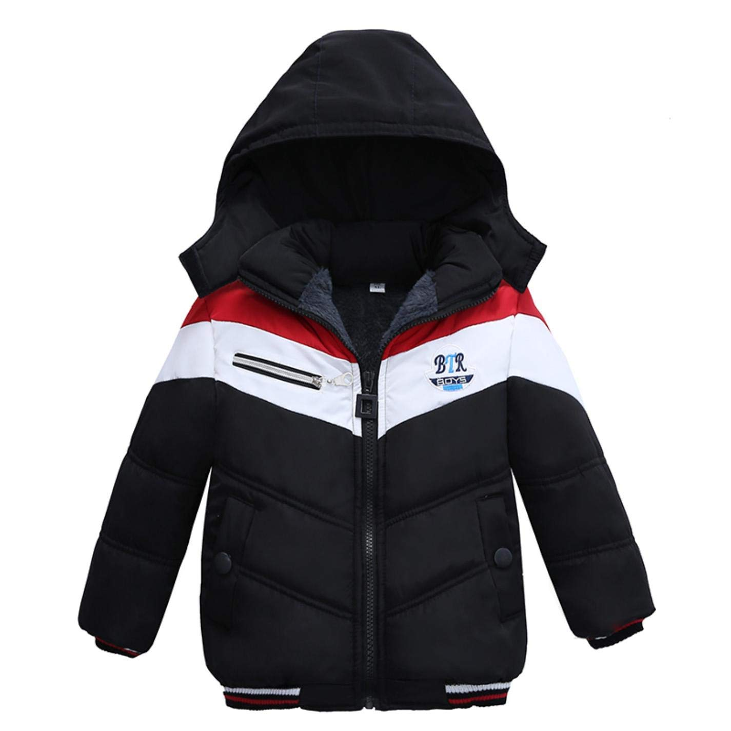 b45b12a9b Get Quotations · LzCxZDKN Baby Boys Jacket Kids Warm Hooded Outerwear Coats  Children Clothes
