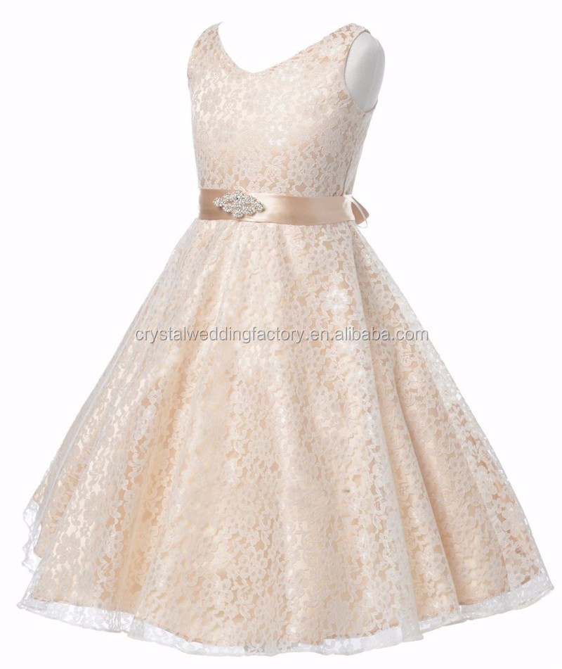 Little flower girls dresses for weddings baby party frocks for Dresses for girls wedding