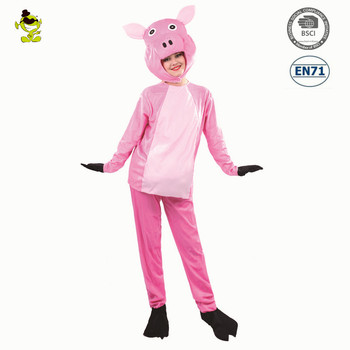 cute pink pig fur cartoon instant women party mascot costume buy