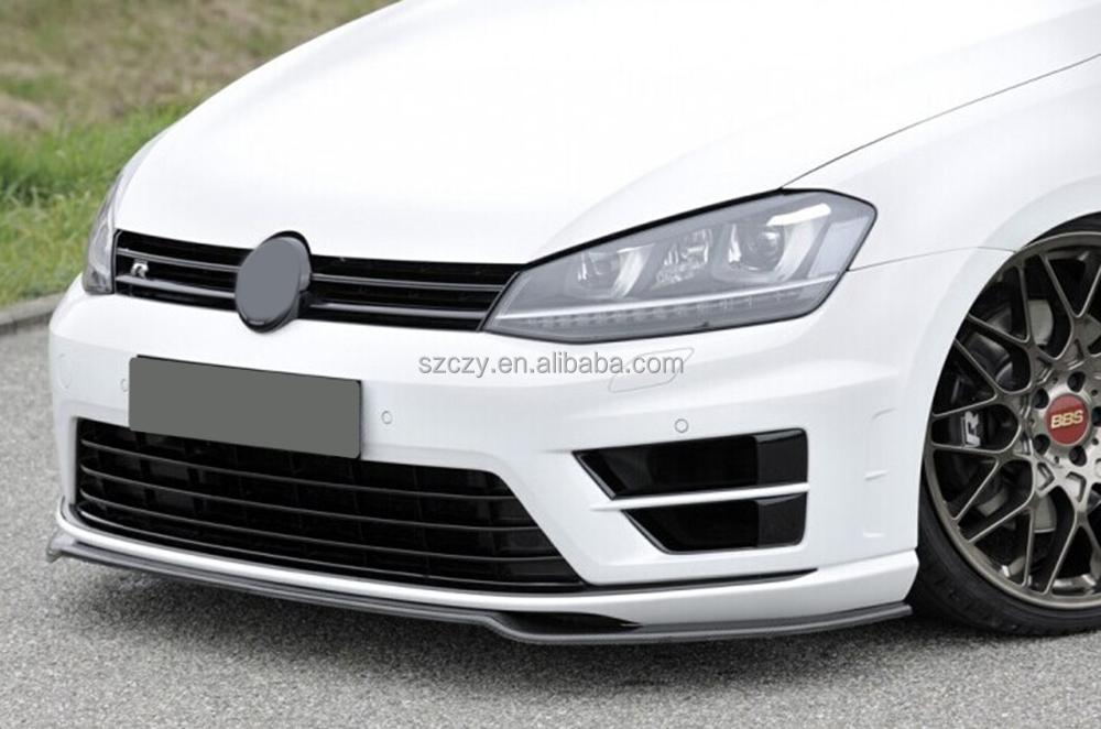 auto golf r de carbone voiture spoiler avant pour volkswagen golf7 r mk7 15 16 pare chocs id de. Black Bedroom Furniture Sets. Home Design Ideas