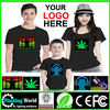 Hot selling high quality LED Shirt,sound activated led shirt wholesale,led t-shirt